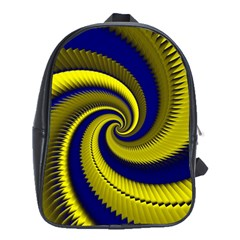 Blue Gold Dragon Spiral School Bag (xl) by designworld65