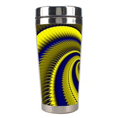 Blue Gold Dragon Spiral Stainless Steel Travel Tumblers by designworld65
