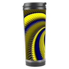 Blue Gold Dragon Spiral Travel Tumbler