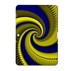 Blue Gold Dragon Spiral Samsung Galaxy Tab 2 (10 1 ) P5100 Hardshell Case  by designworld65