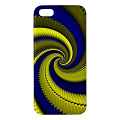 Blue Gold Dragon Spiral Iphone 5s/ Se Premium Hardshell Case by designworld65