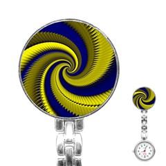 Blue Gold Dragon Spiral Stainless Steel Nurses Watch by designworld65