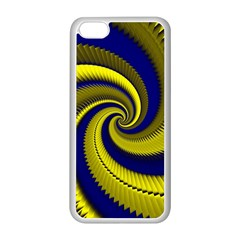 Blue Gold Dragon Spiral Apple Iphone 5c Seamless Case (white) by designworld65