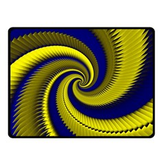 Blue Gold Dragon Spiral Double Sided Fleece Blanket (small)  by designworld65