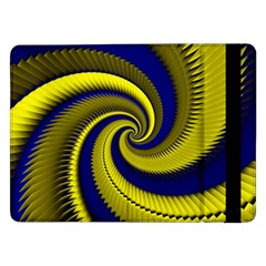 Blue Gold Dragon Spiral Samsung Galaxy Tab Pro 12 2  Flip Case by designworld65