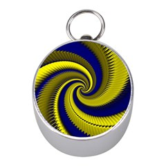 Blue Gold Dragon Spiral Mini Silver Compasses