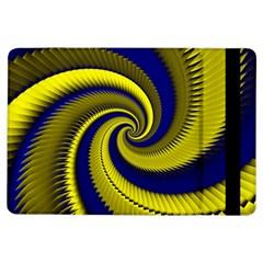 Blue Gold Dragon Spiral Ipad Air Flip by designworld65