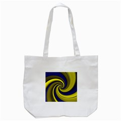 Blue Gold Dragon Spiral Tote Bag (white)