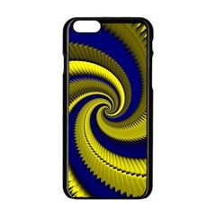 Blue Gold Dragon Spiral Apple Iphone 6/6s Black Enamel Case by designworld65