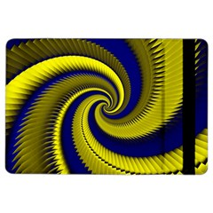 Blue Gold Dragon Spiral Ipad Air 2 Flip by designworld65