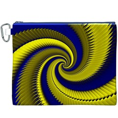 Blue Gold Dragon Spiral Canvas Cosmetic Bag (xxxl) by designworld65