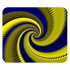 Blue Gold Dragon Spiral Double Sided Flano Blanket (small)  by designworld65