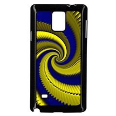 Blue Gold Dragon Spiral Samsung Galaxy Note 4 Case (black) by designworld65