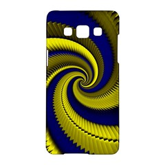 Blue Gold Dragon Spiral Samsung Galaxy A5 Hardshell Case  by designworld65