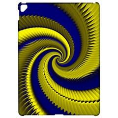 Blue Gold Dragon Spiral Apple Ipad Pro 12 9   Hardshell Case by designworld65