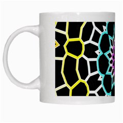 Colored Window Mandala White Mugs