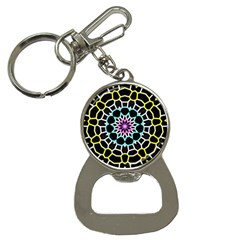Colored Window Mandala Button Necklaces by designworld65