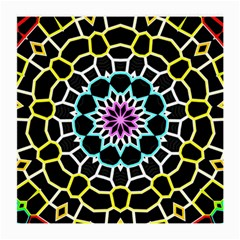 Colored Window Mandala Medium Glasses Cloth (2 Side) by designworld65