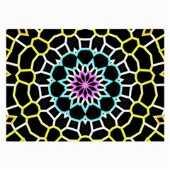 Colored Window Mandala Large Glasses Cloth by designworld65