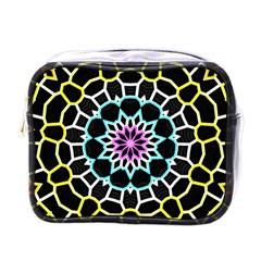 Colored Window Mandala Mini Toiletries Bags by designworld65