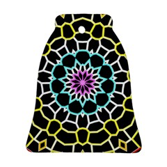 Colored Window Mandala Bell Ornament (two Sides) by designworld65