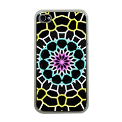 Colored Window Mandala Apple Iphone 4 Case (clear) by designworld65