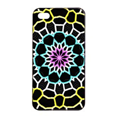 Colored Window Mandala Apple Iphone 4/4s Seamless Case (black)
