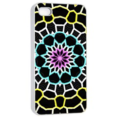 Colored Window Mandala Apple Iphone 4/4s Seamless Case (white) by designworld65