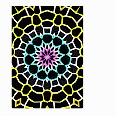 Colored Window Mandala Large Garden Flag (two Sides) by designworld65