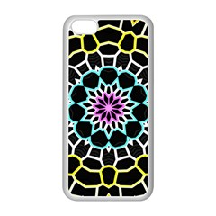 Colored Window Mandala Apple Iphone 5c Seamless Case (white) by designworld65