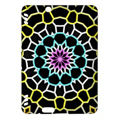 Colored Window Mandala Kindle Fire Hdx Hardshell Case by designworld65