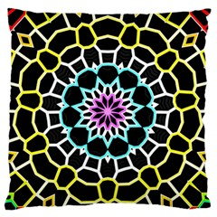 Colored Window Mandala Standard Flano Cushion Case (two Sides) by designworld65