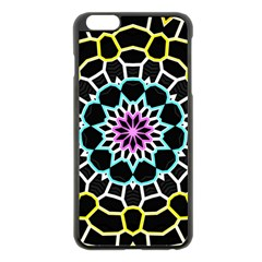 Colored Window Mandala Apple Iphone 6 Plus/6s Plus Black Enamel Case by designworld65