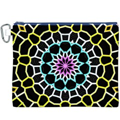 Colored Window Mandala Canvas Cosmetic Bag (xxxl) by designworld65