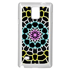 Colored Window Mandala Samsung Galaxy Note 4 Case (white) by designworld65