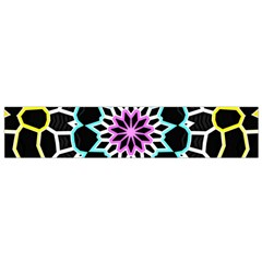 Colored Window Mandala Flano Scarf (small) by designworld65