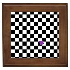 Dropout Purple Check Framed Tiles by designworld65