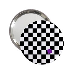Dropout Purple Check 2 25  Handbag Mirrors by designworld65
