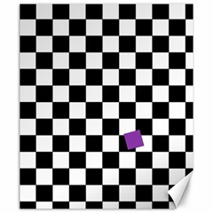 Dropout Purple Check Canvas 20  X 24   by designworld65