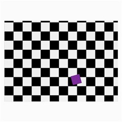 Dropout Purple Check Large Glasses Cloth (2 Side) by designworld65