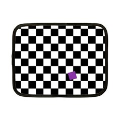 Dropout Purple Check Netbook Case (small)  by designworld65