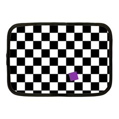 Dropout Purple Check Netbook Case (medium)  by designworld65