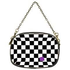 Dropout Purple Check Chain Purses (one Side)  by designworld65