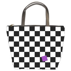 Dropout Purple Check Bucket Bags