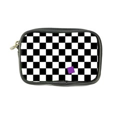 Dropout Purple Check Coin Purse by designworld65