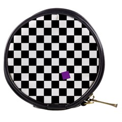 Dropout Purple Check Mini Makeup Bags
