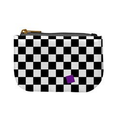 Dropout Purple Check Mini Coin Purses