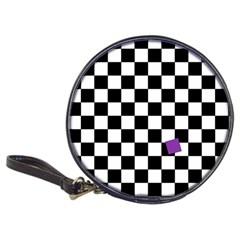 Dropout Purple Check Classic 20 Cd Wallets by designworld65