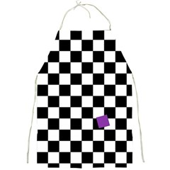 Dropout Purple Check Full Print Aprons by designworld65