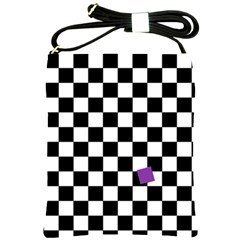 Dropout Purple Check Shoulder Sling Bags by designworld65